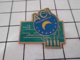 716A Pin's Pins / Beau Et Rare / THEME : INFORMATIQUE / ACI CHAMPAGNE CIRCUIT IMPRIME - Informatique