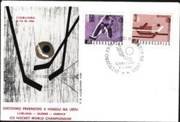 Yugoslavia FDC 1966 Ice Hockey World Championship (G110-46) - Hockey (sur Glace)