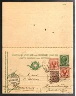 30373 - Entier  Réponse Payée  à 2 Valeurs Différentes - 1900-44 Victor Emmanuel III