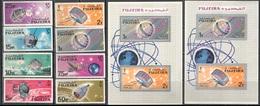 M2611 ✅ Space Raumfahrt Satellites 1966 Fujeira 8v+2S/s MNH ** 14,2ME - Espacio