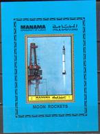 M2603 ✅ Space Raumfahrt Apollo 1972 Ajman S/s MNH ** - Espacio
