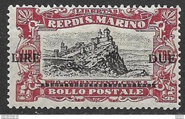 San Marino 1924, Mi. Nr. 108 MNH - San Marino