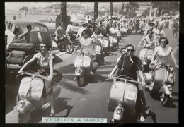 Vespa Vespiste A Cannes Carte Postale - Motorfietsen