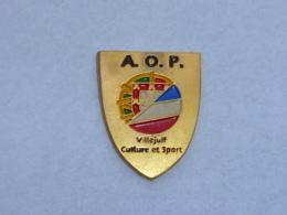 Pin's A.O.P., VILLEJUIF, CULTURE ET SPORT - Villes