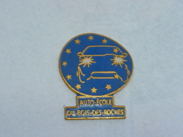 Pin's AUTO ECOLE DU BOIS DES ROCHES, Signe WINNER - Pin's
