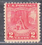 UNITED STATES    SCOTT NO 645    MNH    YEAR  1928 - Neufs