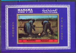 M2610 ✅ Art Paintings Van Gogh 1972 Manama S/s MNH ** Imperf Imp - Impresionismo