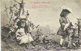 Bergerte Serie Complete 5 Cartes Bergère Et Marquis RV - Scenes & Landscapes