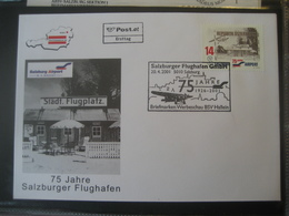 Österreich 2001- FDC 75 Jahre Salzburger Flughafen Mit Sondermarke Und  Sonderstempel - FDC