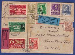 Luftpost-Brief 1935 In Die USA (br9547) - Altri Documenti