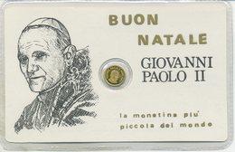VATICANO 1979 - BUON NATALE GIOVANNI PAOLO II - LA PIU' PICCOLA MONETA DEL MONDO - Vaticano