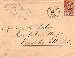 N° 57 Sur Lettre De BOOM (manufacture De Cigares) Vers Etterbeek (Bruxelles) - 1893-1900 Thin Beard