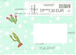 28G : France QR Code Label Stamp Used On Cover - France
