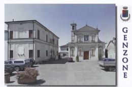 (A532) - GENZONE (Pavia) - Chiesa Parrocchiale E Municipio - Pavia