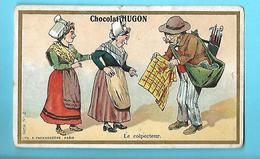 CHROMO---PARIS---CHOCOLAT HUGON--cacao En Poudre--thé Hugon--voir 2 Scans - Chocolate