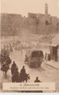 G28- A JERUSALEM (ISARAEL) LANCIERS INDIENS PARCOURANT LES RUES - (GUERRE - WW1 -2 SCANS) - Israel