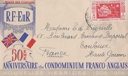 Enveloppe  FDC  1er  Jour   NOUVELLES  HEBRIDES   Cinquantenaire  Du  Condominium  1956 - FDC