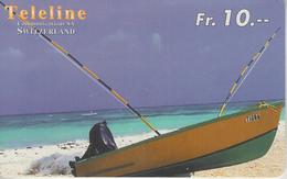 SWITZERLAND - PHONE CARD - PRÉPAID - TELELINE  ***  BATEAU / 5  *** - Boats