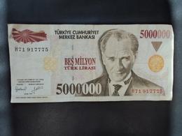 TURQUIE : 5 000 000 LIRA   L.1970 (.01.1997)   P 210       TTB - Turkey