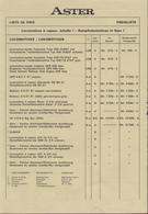 Catalogue ASTER FULGUREX Dampflokomotiven Spur I Preisliste 15/4/1982 - Livres Et Magazines