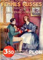 Bibliothèque Reliée Plon N° 153 : Femmes Russes Par Tourgueneff - Livres, BD, Revues
