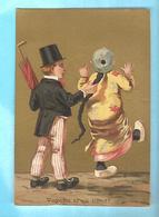 CHROMO----ALGERIE---BONE---H. PONCE--cours National--aux Armes De Lyon--confiseur---voir 2 Scans - Snoepgoed & Koekjes