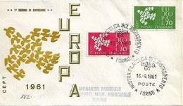 Fdc Ditta Ignota: EUROPA (1961) No Viaggiata AS_Torino - F.D.C.