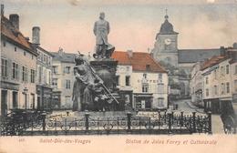 ¤¤  -   SAINT-DIE-des-VOSGES   -  Statue De Jules Ferry Et Cathédrale     -  ¤¤ - Saint Die