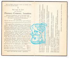 DP Florence C. Lemahieu ° Langemark 1864 † 1943 / Verhille Vermeulen Vanzeveren Courtens Dael Vereecke Delberghe Degryse - Santini