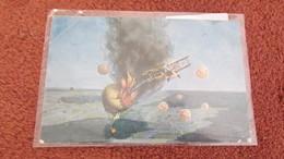 WW1 German Shooting Down Observation Balloon Used Postcard   1917 - 1914-18