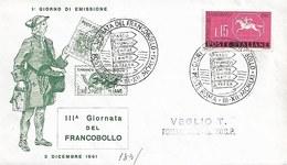 Fdc Ditta Ignota: GIORNATA FRANCOBOLLO(1961) No Viaggiata AS_Roma - F.D.C.