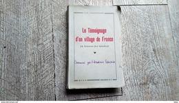 Le Témoignage D'un Village De France De Charpentier La Berthenoux Indre Berry Rare - Centre - Val De Loire
