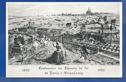 Centenaire Du Chemin De Fer   De Paris à Strasbourg   18 Octobre 1952 - Marcophilie (Lettres)