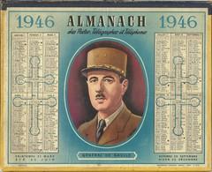 - GUERRE 1939/1945 -  Almanach Des POSTES De 1946 Avec Portrait Du Général DE GAULLE - 1939-45
