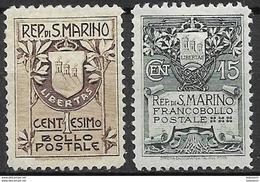 San Marino 1907, Complete Set - Ungebraucht