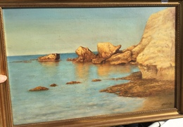 MALCOLM HORTON (1949 Exmouth Devon Dorset GB)oil Painting 1989 Coast Seascape(British Art Maritime Tableau Cornwall Sea - Huiles