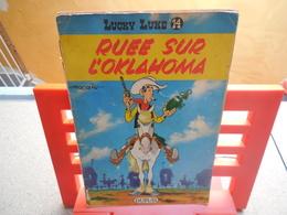 Lucky Luke N°14. Ruée Sur L'Oklahoma, René Goscinny Et Morris - 1964...3B0420 - Lucky Luke
