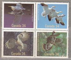 CANADA 1986 Birds Mi 995-998 MNH (**) Stamps #17348 - Oiseaux