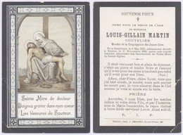 Belgique - Mortuaire : Louis-Gillain Martin (Coutelier, Membre De La Congrégation Des Jeunes Gens), Gembloux 8/5/1871 - Décès