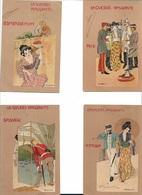 W38/  JAPANSE TEKENAAR???    REEKS MET GOUDOPDRUK   1902 - Non Classés