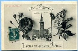 2 CPA 26 Drôme Romans / Place Jacquemart, Marché Aux Chevaux / Multivues - Romans Sur Isere