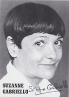 Actrice Et Chanteuse Suzanne Gabriello - Chanteurs & Musiciens