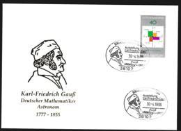 Germany Ill. Cover Braunschweig 1996 Karl Friedrich Gauss - Matematiker Astronom (G109-58) - Cartas