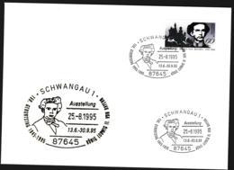 Germany Ill. Cover Schwangau 1995 König Ludwig II Von Bayern (G109-58) - Cartas