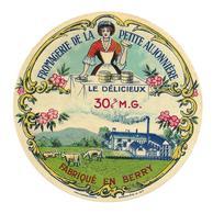 ETIQUETTE De FROMAGE..fabriqué En BERRY..Le Délicieux..Fromagerie De La Petite Aujonnière - Fromage