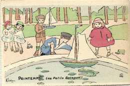 Illustrateur A Delalain PRINTEMPS  Les Petits Bateaux RV - Scenes & Landscapes