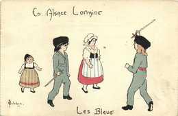 Illustrateur  Delalain En Alsace Lorraine Les Bleus  RV - Scenes & Landscapes