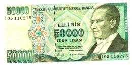 Billet >  Turquie   > 50000 Lirasi - Turkey