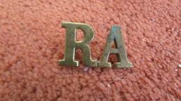 British Royal Artillery RA Shoulder Title - 1914-18