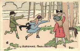 Illustrateur  Delalain L'AUTOMNE Cache Cache    RV - Scenes & Landscapes